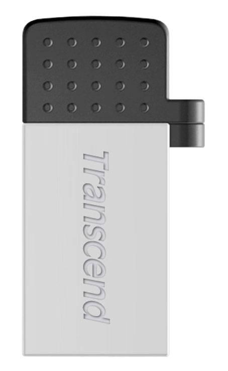 Флеш диск Transcend Jetflash 380 16ГБ USB2.0 серебристый - фото 1