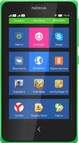 Смартфон Nokia X Dual sim зеленый - фото 1