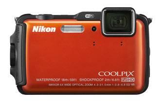 Фотоаппарат Nikon CoolPix AW120 оранжевый - фото 1