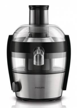 Соковыжималка центробежная Philips HR1836/00 серебристый/черный