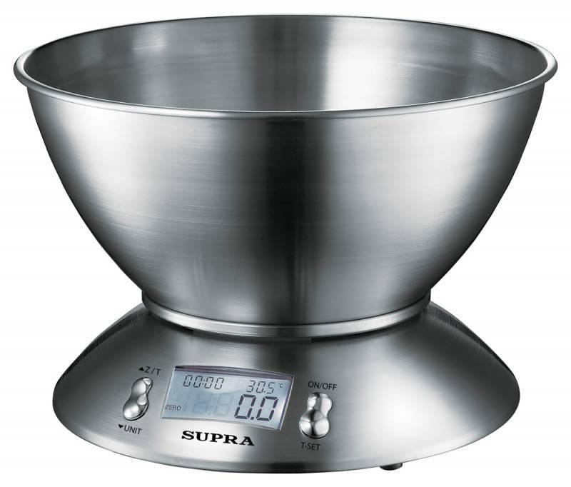Кухонные весы Supra BSS-4095 серебристый - фото 1