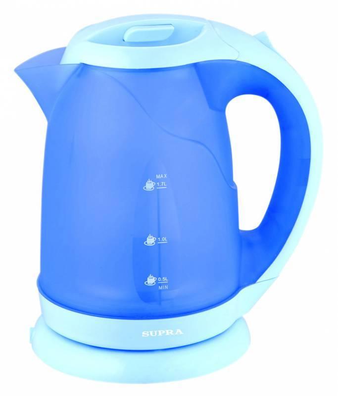 Чайник электрический Supra KES-1722  2200Вт 1.7л голубой - фото 1