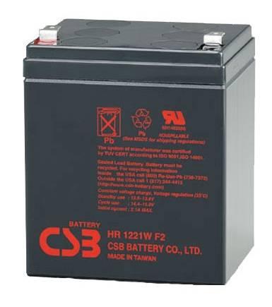Батарея для ИБП CSB HR 1221W F2, 12В, 5Ач - фото 1