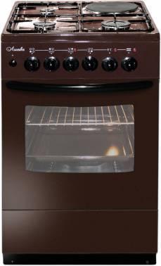 Плита комбинированная Лысьва ЭГ 1/3г01 M2C-2у коричневый, без крышки