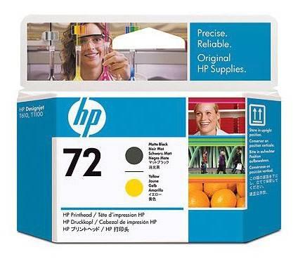 Картридж струйный HP №72 C9384A черный матовый/желтый - фото 1