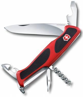 Нож со складным лезвием Victorinox RangerGrip 68 красный/черный (0.9553.C)