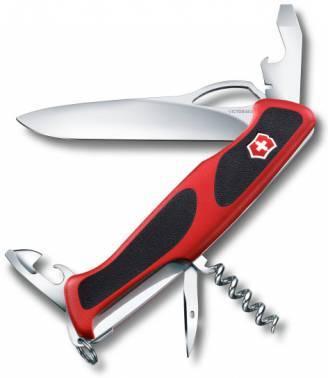 Нож со складным лезвием Victorinox RangerGrip 61 красный/черный (0.9553.MC)