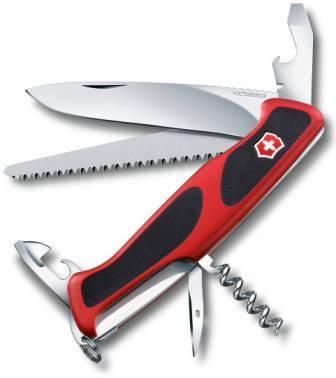 Нож со складным лезвием Victorinox RangerGrip 55 красный/черный (0.9563.C)
