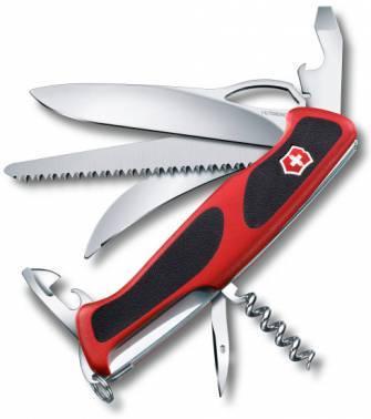 Нож со складным лезвием Victorinox RangerGrip 57 Hunter красный/черный (0.9583.MC)