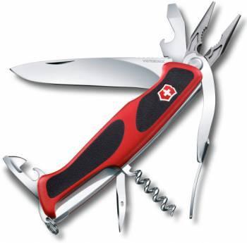 Нож со складным лезвием Victorinox RangerGrip 74 красный/черный (0.9723.C)