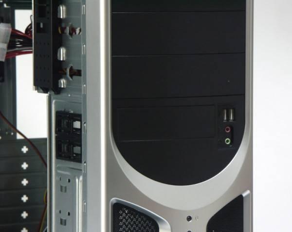 Корпус ATX 500W Foxconn TLA-570 черный/серебристый - фото 4