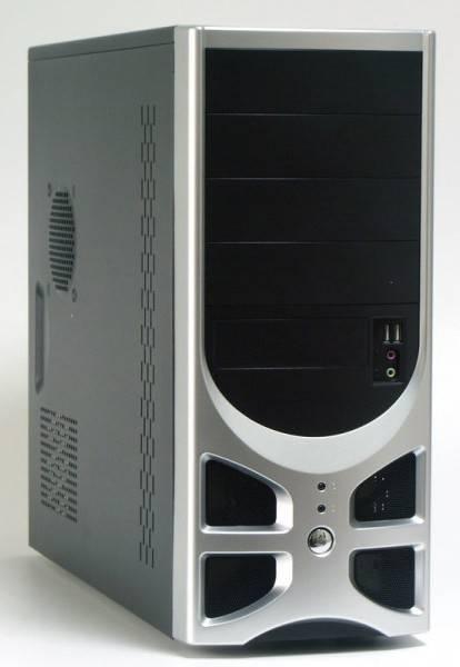 Корпус ATX 500W Foxconn TLA-570 черный/серебристый - фото 1