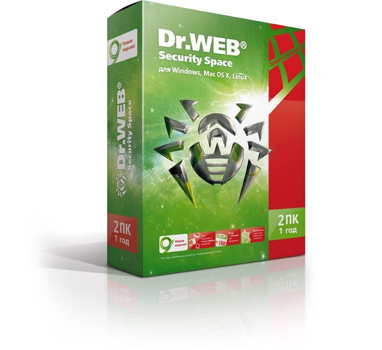 ПО DR.Web Security Space 2PC 1Y Base Box (BHW-B-12M-2-A3) - фото 1