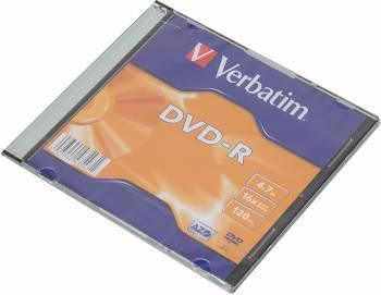 Диск DVD-R Verbatim 4.7Gb 16x (1шт) (43547)