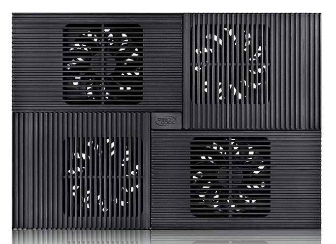 """Подставка для ноутбука 17"""" Deepcool MULTI CORE X8 черный (MULTICOREX8) - фото 2"""