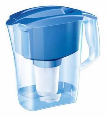 Кувшин Аквафор Арт голубой, объем 2.8л., очистка воды одноступенчатая, сорбционная(проточная) система