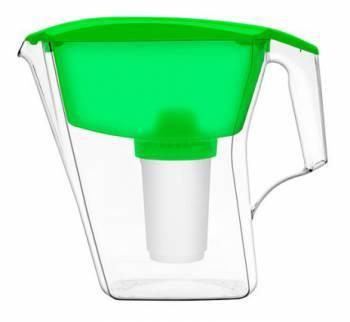 Кувшин Аквафор Арт зеленый, объем 2.8л., очистка воды одноступенчатая, сорбционная(проточная) система
