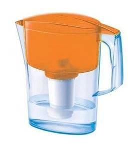 Кувшин Аквафор Арт оранжевый, объем 2.8л., очистка воды одноступенчатая, сорбционная(проточная) система