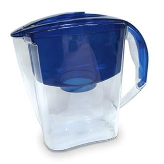 Кувшин Аквафор Гратис синий, объем 2.8л., очистка воды одноступенчатая, сорбционная(проточная) система