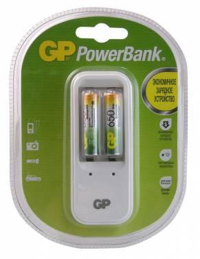 Аккумулятор + зарядное устройство AAA GP PowerBank PB410GS65, в комплекте 2шт. (GP PB410GS65-2CR2)