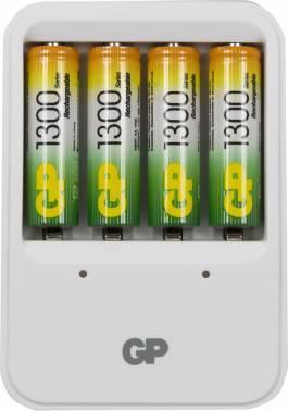 Аккумулятор + зарядное устройство AA GP PowerBank PB420GS130, в комплекте 4шт. (GP PB420GS130-2CR4)
