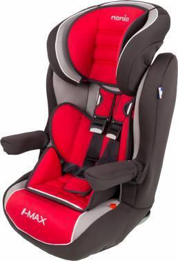Автокресло детское Nania Imax SP LX (agora carmin) красный/серый (923129)