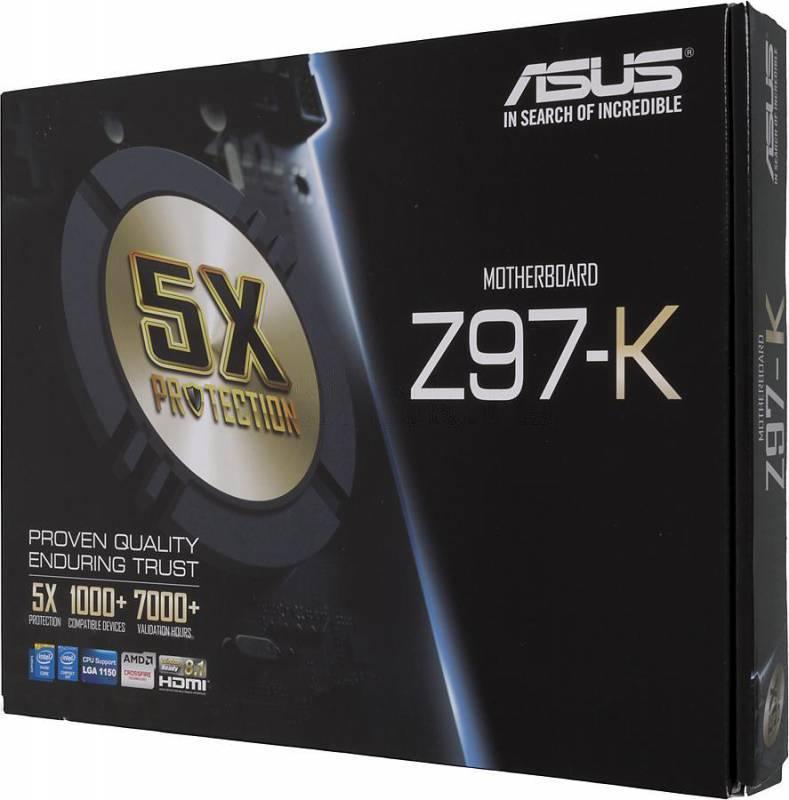 Материнская плата Soc-1150 Asus Z97-K ATX - фото 6