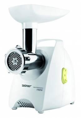 Мясорубка Zelmer ZMM1588LRU белый / зеленый