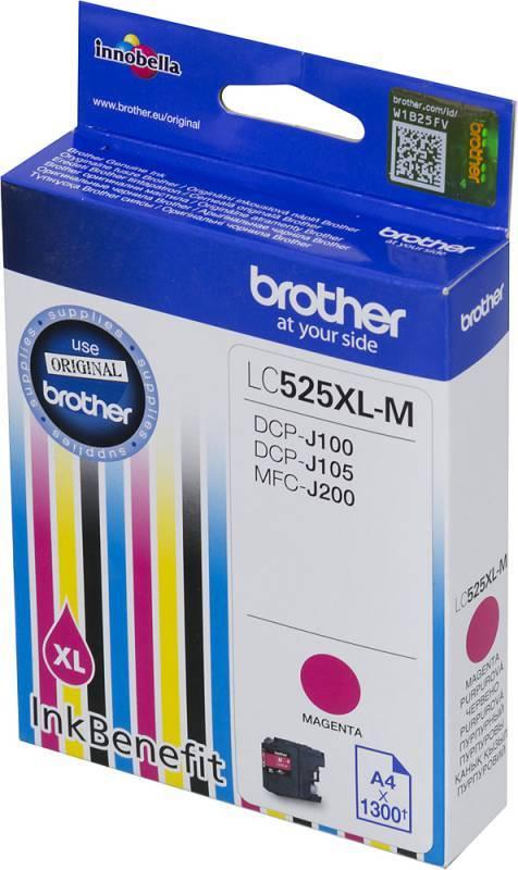 Картридж струйный Brother LC525XLM пурпурный - фото 2