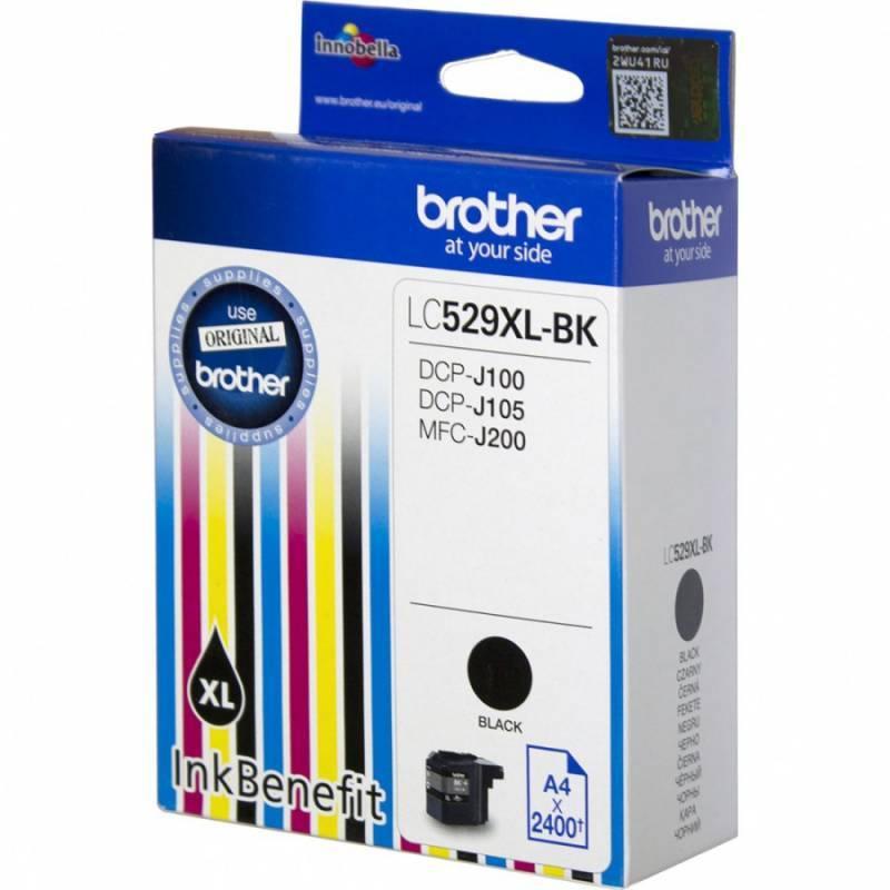 Картридж струйный Brother LC529XLBK черный - фото 1