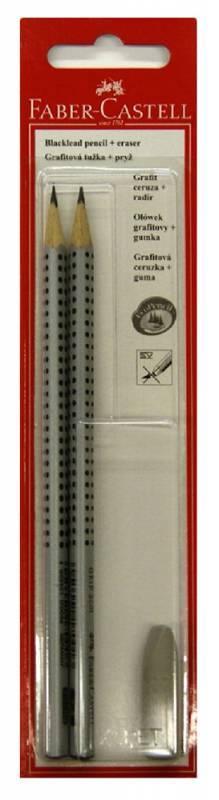 Карандаш чернографитовый Faber-Castell Grip 2001 HB/B 2шт. (263301) - фото 1