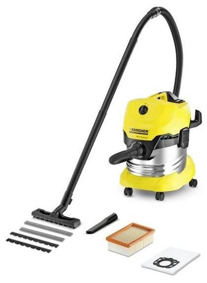 Пылесос Karcher WD4 Premium желтый/черный - фото 1