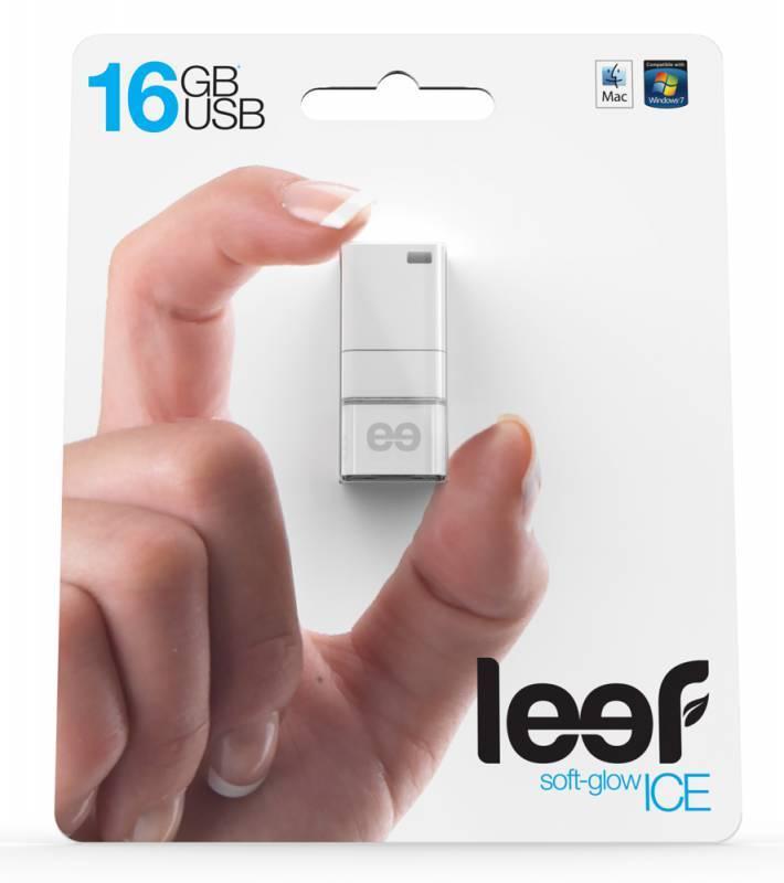 Флеш диск Leef Ice 16ГБ USB2.0 белый - фото 3