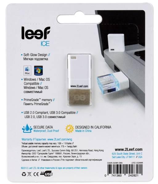 Флеш диск Leef Ice 16ГБ USB2.0 белый - фото 4