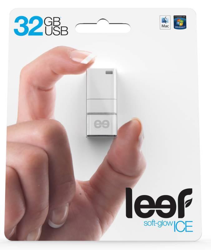 Флеш диск Leef Ice 32ГБ USB2.0 белый - фото 3