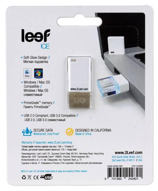 Флеш диск Leef Ice 32ГБ USB2.0 белый - фото 4