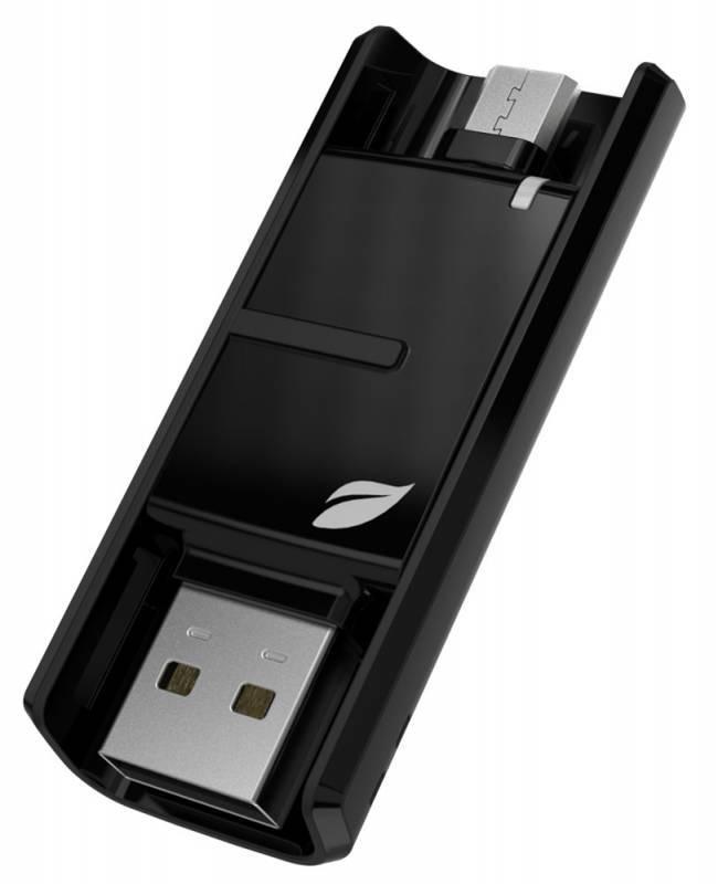 Флеш диск Leef Bridge 16ГБ USB2.0 черный - фото 1