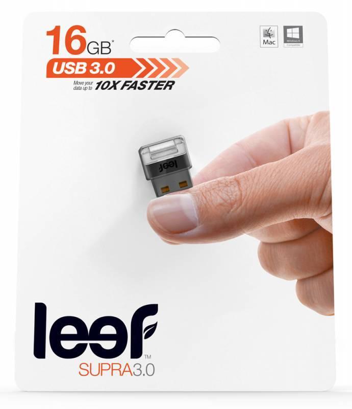 Флеш диск Leef Supra 16ГБ USB3.0 темно-серый - фото 4