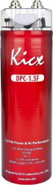 Конденсатор Kicx DPC 1,5F красный