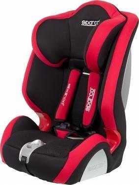 Автокресло детское Sparco F 1000 K черный / красный