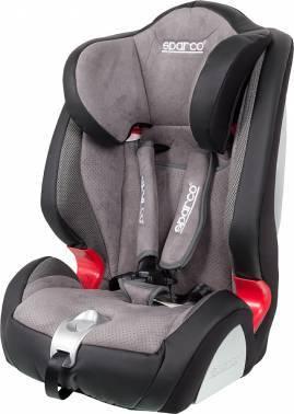 Автокресло детское Sparco F 1000 K (экокожа / алькантара) черный / серый
