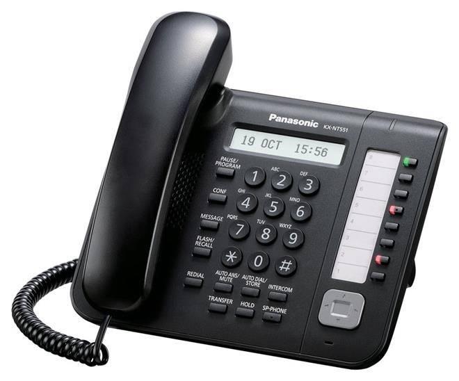 Телефон IP Panasonic KX-NT551RU-B черный - фото 1
