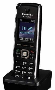 Системный телефон микросотовый Panasonic KX-TCA185RU черный