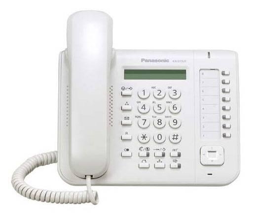 Системный телефон Panasonic KX-DT521RU белый - фото 1