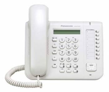 Системный телефон цифровой Panasonic KX-DT521RU белый
