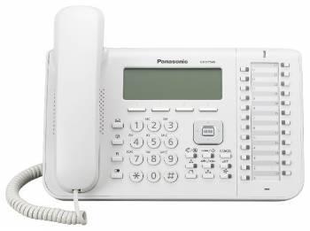 Системный телефон цифровой Panasonic KX-DT546RU белый