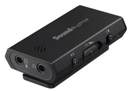 Усилитель для наушников Creative Sound Blaster E1 портат. черный (70SB160000001) - фото 1