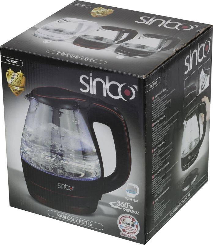 Чайник электрический Sinbo SK 7307 белый - фото 8