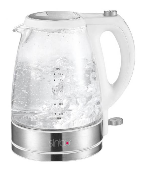 Чайник электрический Sinbo SK 2393B белый - фото 1