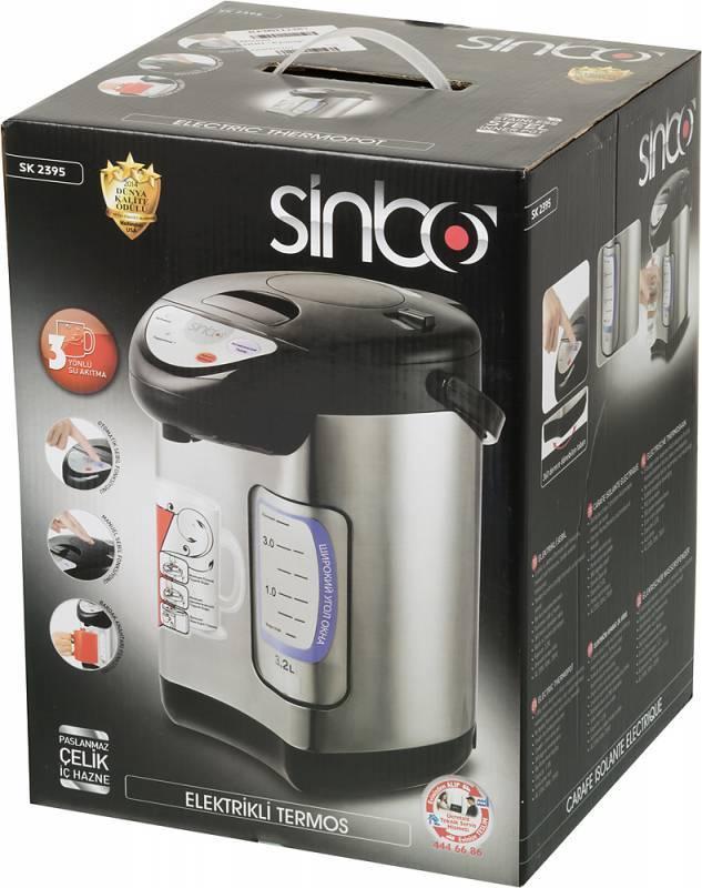 Термопот Sinbo SK 2395 черный/серебристый - фото 9